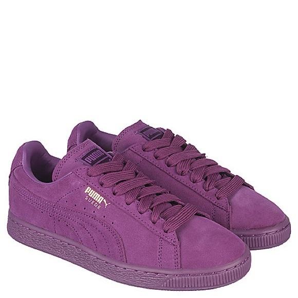 5a717801dcb1 Purple Puma Suede Classic  Size 11. M 5ab7aab83b1608f2ed94f907